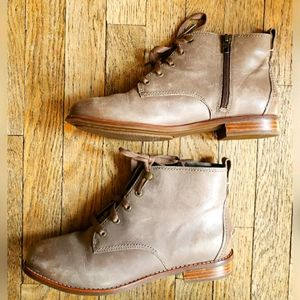 Sperry Top Sider Genuine Leather Boots Gray Laces
